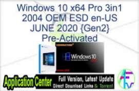 Windows 10 X64 Pro 3in1 2004 OEM ESD en-US JUNE 2020 {Gen2}